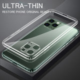 Soft Silicone Transparent TPU Clear Case Camera Protection For iPhone 11 Series