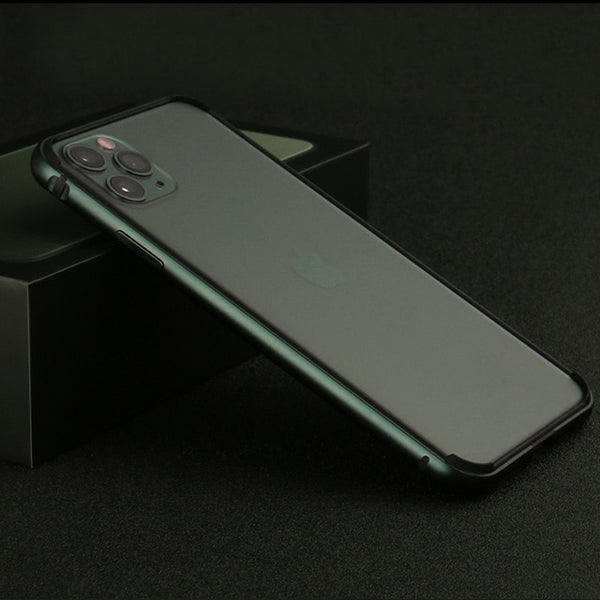 Shockproof Soft Silicone Hard Aluminum Alloy Frame Case for iPhone 11 Series