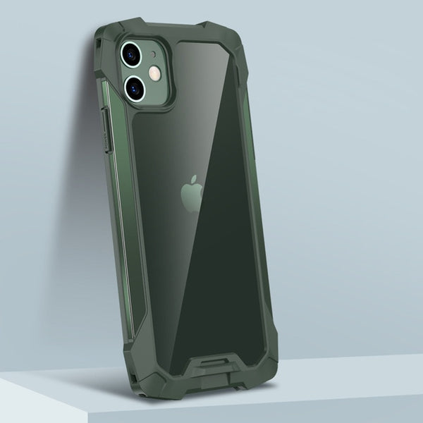 Fashion Transparent Shockproof Liquid Silicone Bumper Case for iPhone 11 Series