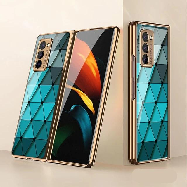 Creative Electroplated Glass Shockproof Case For Samsung Galaxy Z Fold
