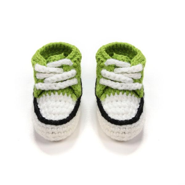 Multicolor Knitted Baby Crib Shoes Handmade