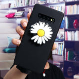 3D Ins Daisy Stand Holder Soft Case For Samsung Galaxy S20 Series