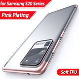 Electroplated Soft Silicone Clear Crystal TPU Protection Phone Case for Samsung Galaxy Note 20 Series