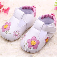 PU Leather Baby Shoes Newborn Flat First Walkers Princess