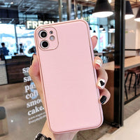 Luxruy Vintage Gold Plated PU Leather Silicone Case for iPhone 11 Series