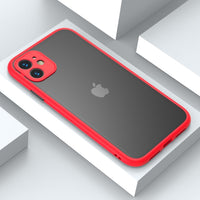 Luxury Matte Transparent Camera Protection Shockproof Case For iPhone 11 Series