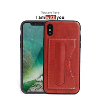 PU Leather case for iPhone 8 7 6 6s plus case Back Cover Protective Card built in kickstand Holder Wallet Phone Bag for iPhone X