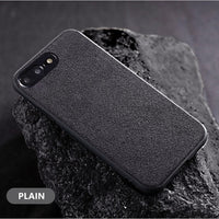Luxury Business Soft Suede Fur Leather Plush Protective Case for iPhone 12 Series