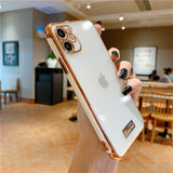 Luxury Gold Plated Electroplated Case Camera Lens Protection for iPhone 11 Series