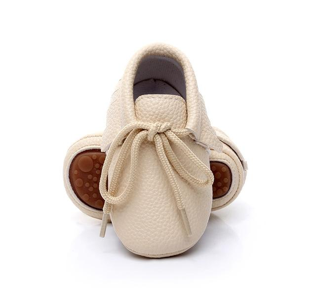 Pu leather baby girls shoes fringe baby moccasins boots for 0-24 M