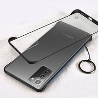 Hard Matte Transparent Slim Case With Ring Protect Back Cover Case For Samsung Galaxy Note 20 Series