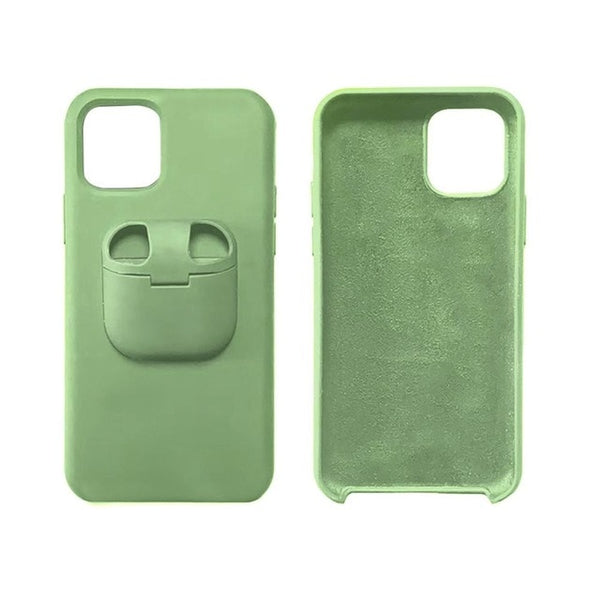 Liquid Silicone Phone Case with Unique AirPod Holder for IPhone 11 Series