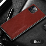 Genuine Oil Wax Leather Phone Case for iPhone 12 Series