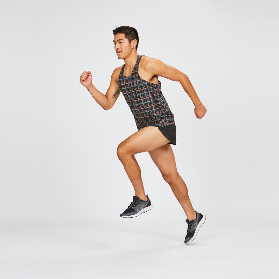 Janji | AFO Singlet in Midnight Plaid Racer