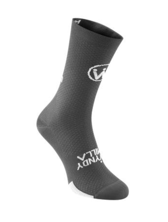 WyndyMilla | Enjoy Life Go Cycling Socks - Gun Metal Grey