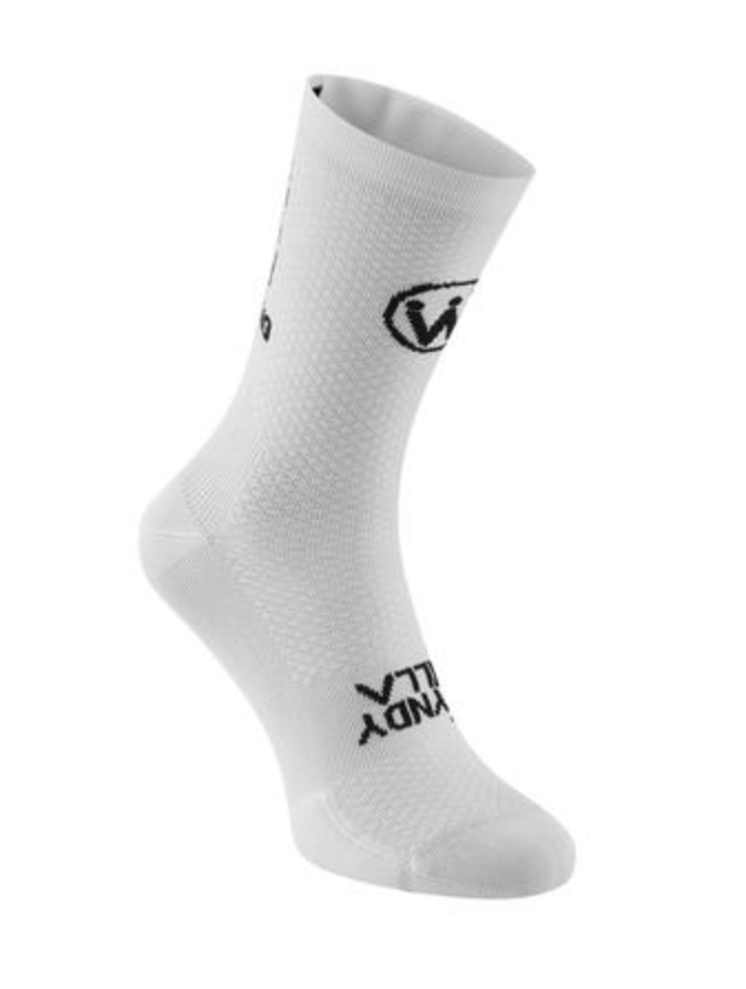 WyndyMilla | Enjoy Life Go Cycling Socks - White