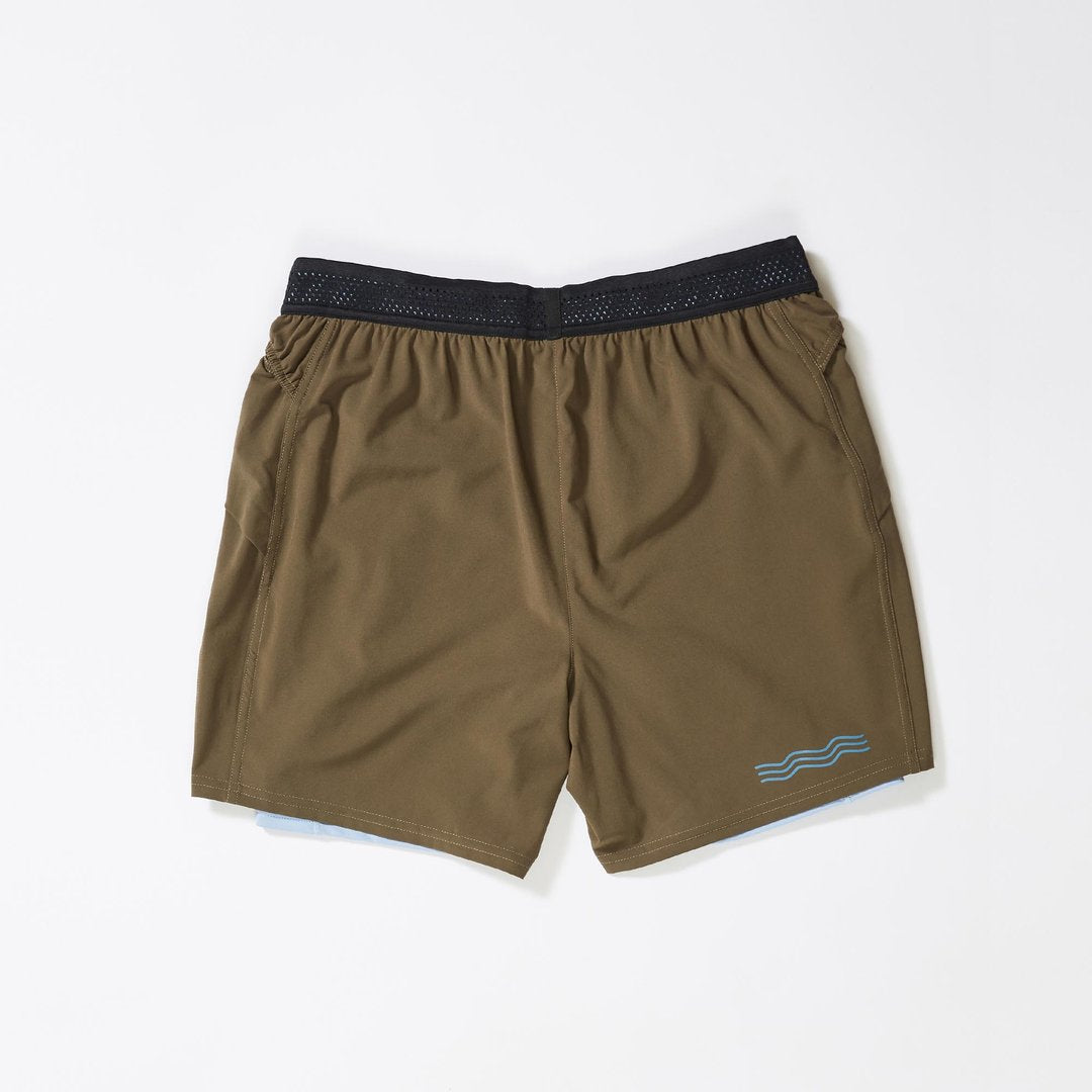 "Janji | 8"" 2-in-1 Traverse Short in Stingray"