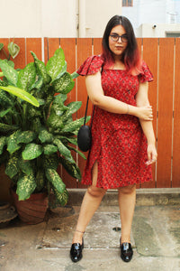 Red Ruffled Dress - Sikhat