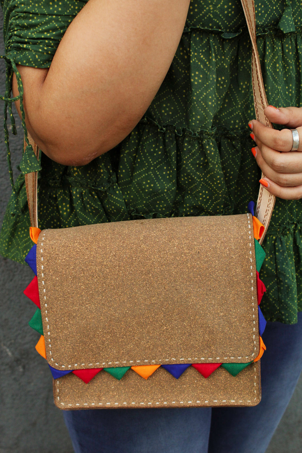 Cork Leather Sling Bag - Sikhat