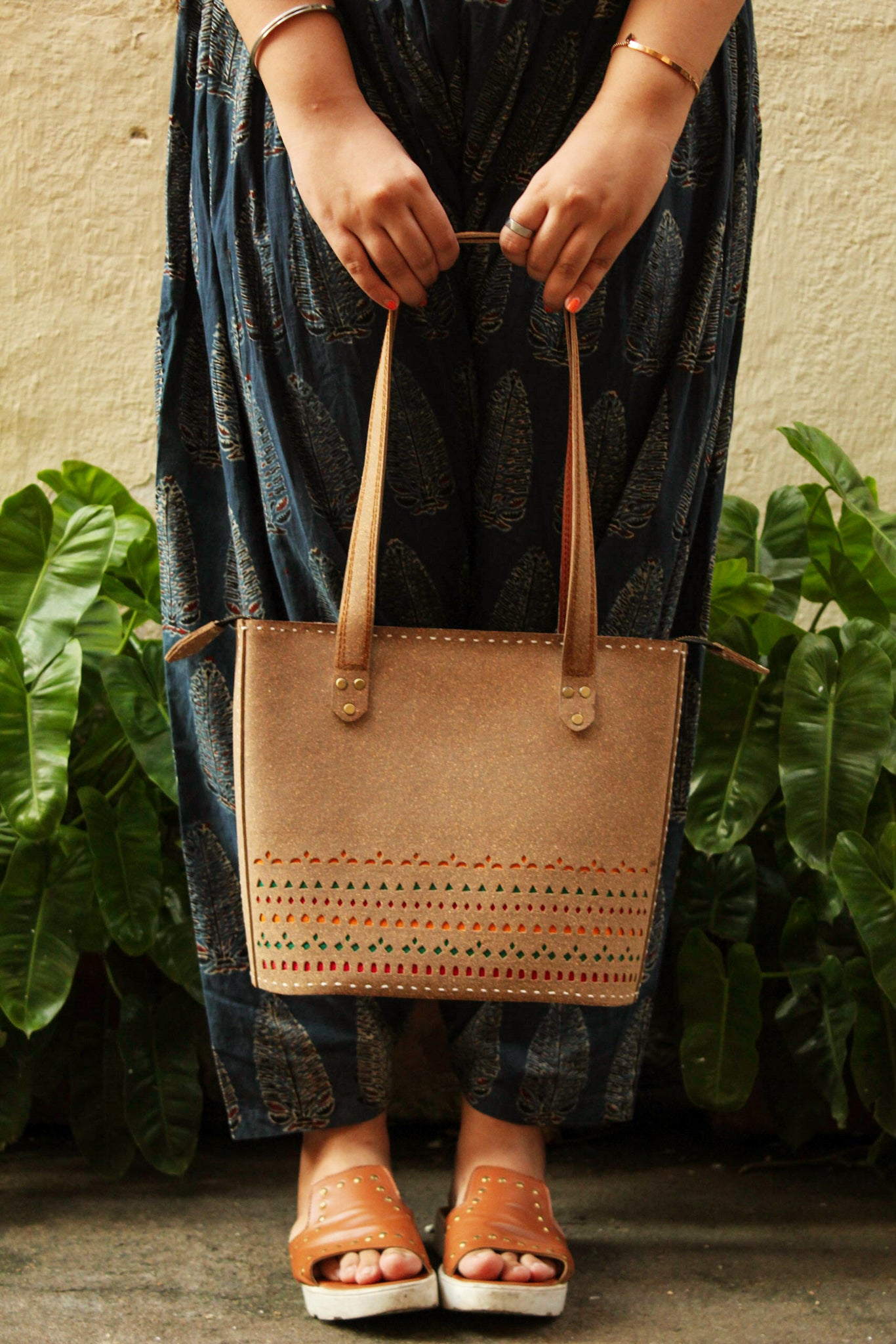Cork Leather Tote Bag - Sikhat