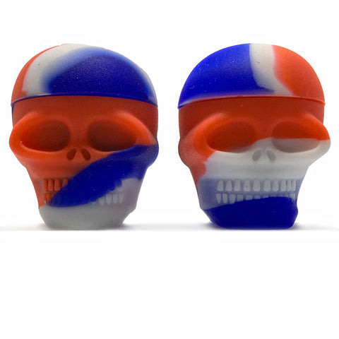 Mini Silicone Skull Jars - Set of 2