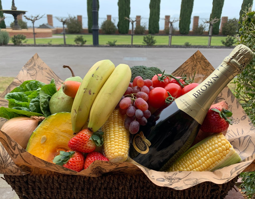 Gourmet Hamper - Fruit, Vegetables & Wine (24hr Notice Required)