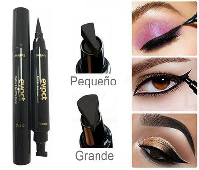 Delineador de Ojos Waterproof Negro + Sello - Loola Beauty