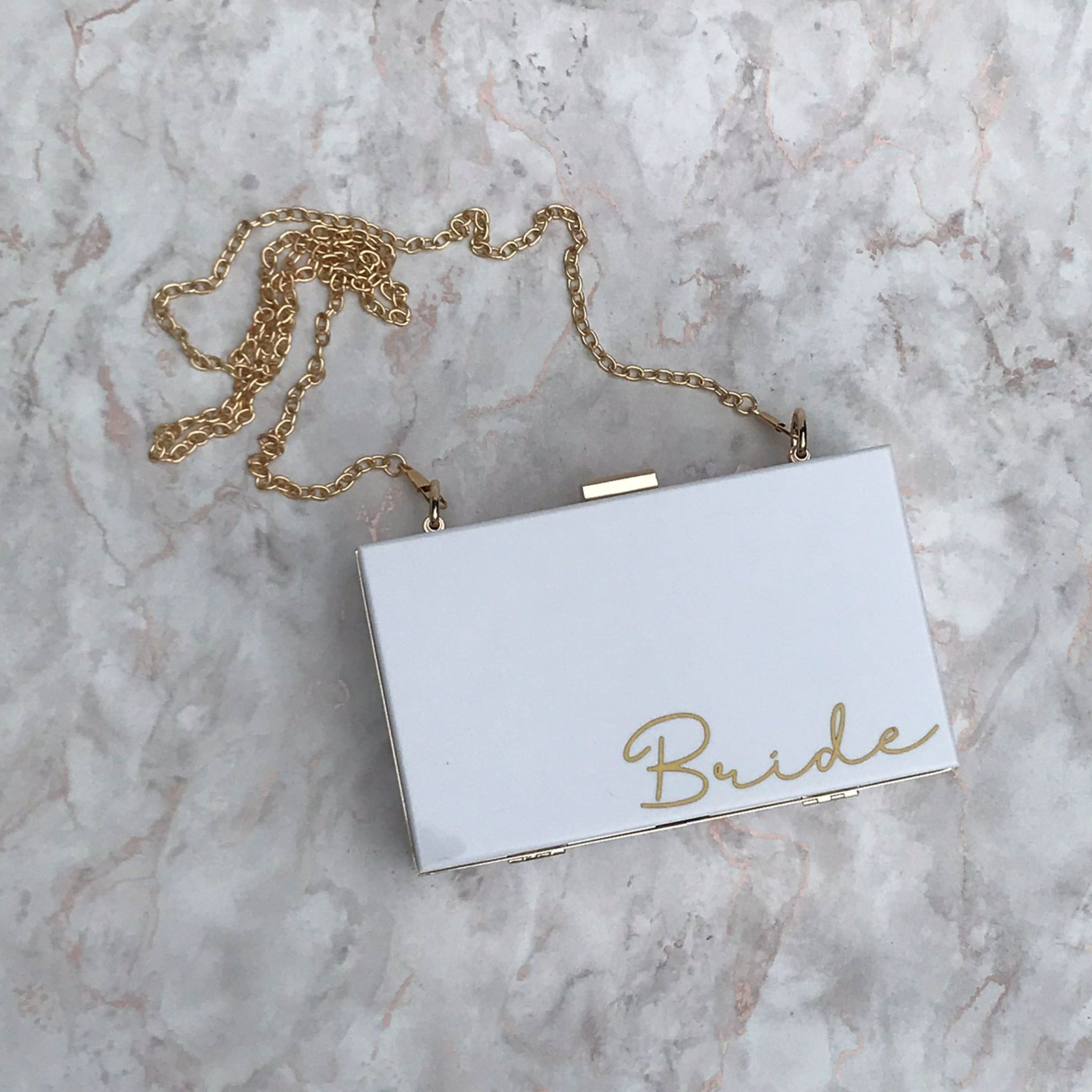 Acrylic Box Clutch Bag - Bride Small