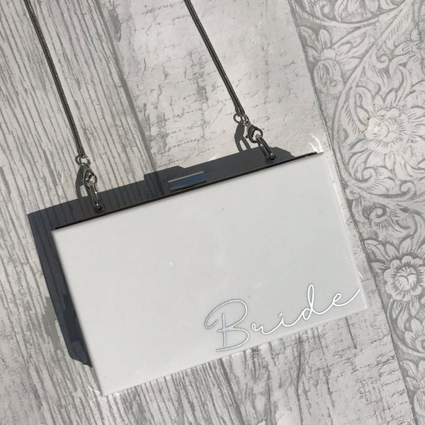 Acrylic Box Clutch Bag - Bride Small - Bag