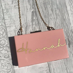 Acrylic Box Clutch Bag - Name - Bag