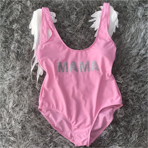 Adult Angel Wings Swimming Costume - Swimwear