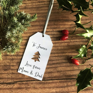 Christmas Tree Cut Out Gift Tag - Gift Tag