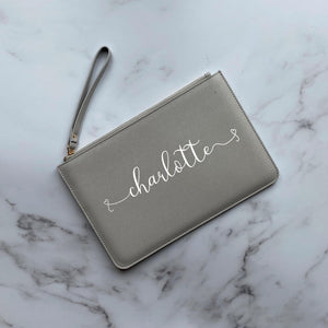 Name Hearts Clutch Bag