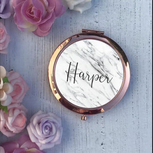 Compact Mirror - Marble Name - Compact Mirror