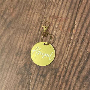 Mirror Gold Key Ring