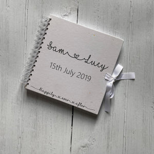 Happily Ever After Guest Book With Date