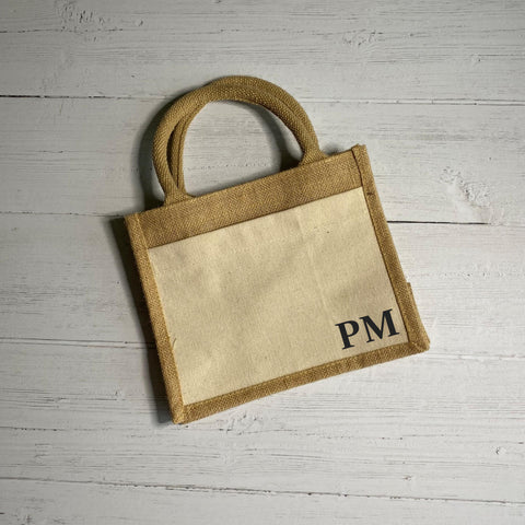 Initials Cotton Pocket Bag