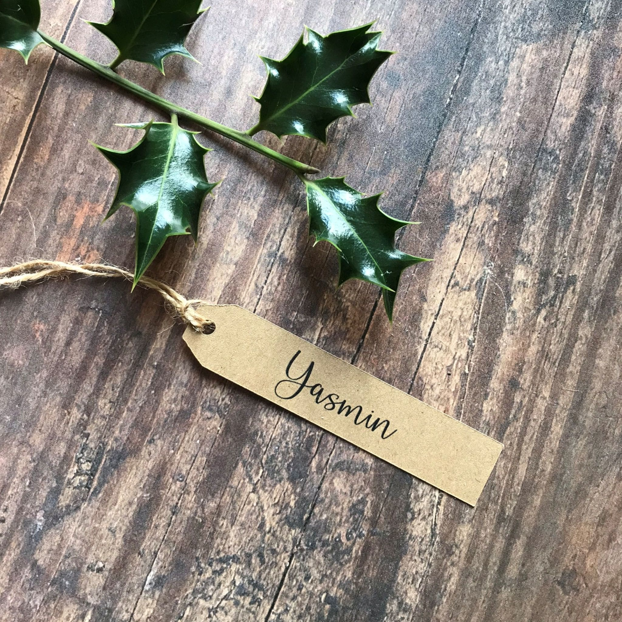 Long Gift Tag - Name