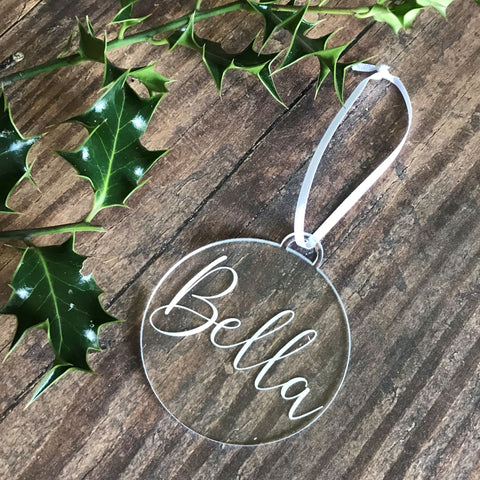 Name Christmas Tree Decoration - Bauble