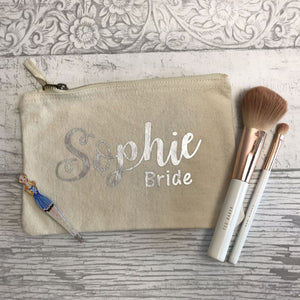 Name & Wedding Role Make Up Bag - Make Up Bag