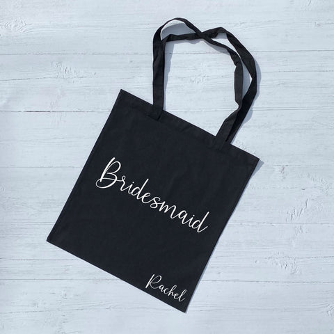 Name & Wedding Role Tote Bag - Tote Bag