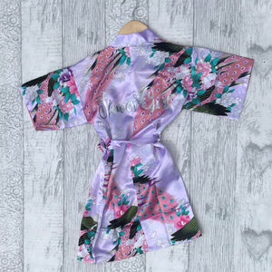 Peacock Pattern Wedding Dressing Gown - Kids - Dressing Gown