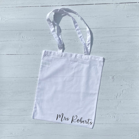 Personalised Mrs Tote Bag - Tote Bag