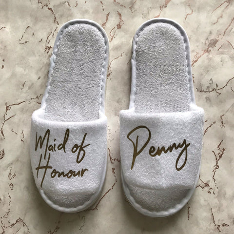 Slippers - Wedding Role & Name