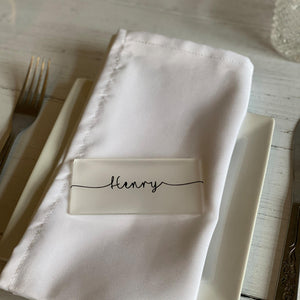 Rectangle Table Place With Swirl Line Names