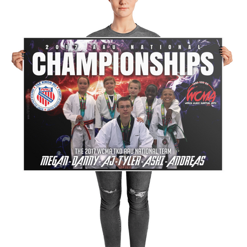 2017 WCMA TKD NATIONAL TEAM 24x36 POSTER