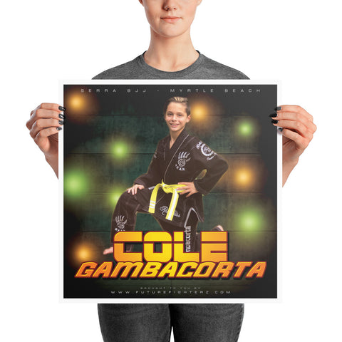 18x18 Cole Gambacorta Green Wall Poster