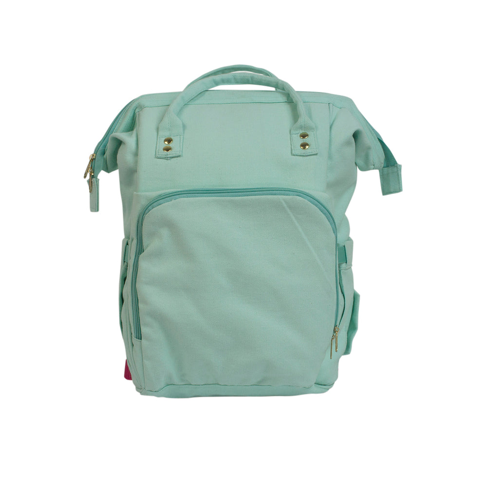 Pañalera Backpack Oh Mom Aqua