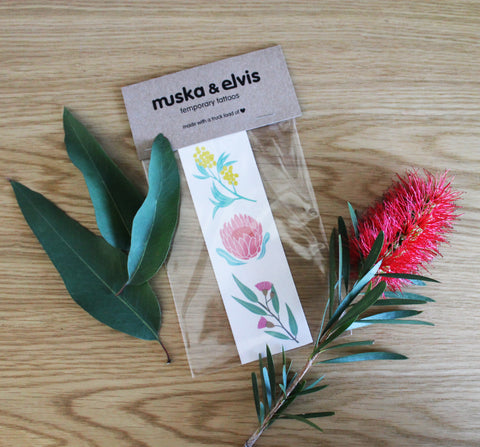 Australian Flora Temporary Tattoo Pack *PRE ORDER