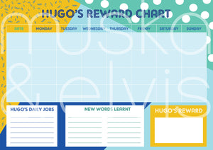 Personalised Printable Reward Charts (Various designs available)